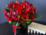 SUNSET| BOXED DESIGN WITH ROSES AND ORCHIDS-1
