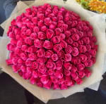 150 hot pink roses