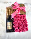 flowers, chocolate and champagne
