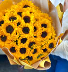 50 Sunflowers hand-crafted Bouquet