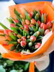 50 orange tulips bouquet