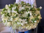 Extra Large Basket with Mixed Flowers-1