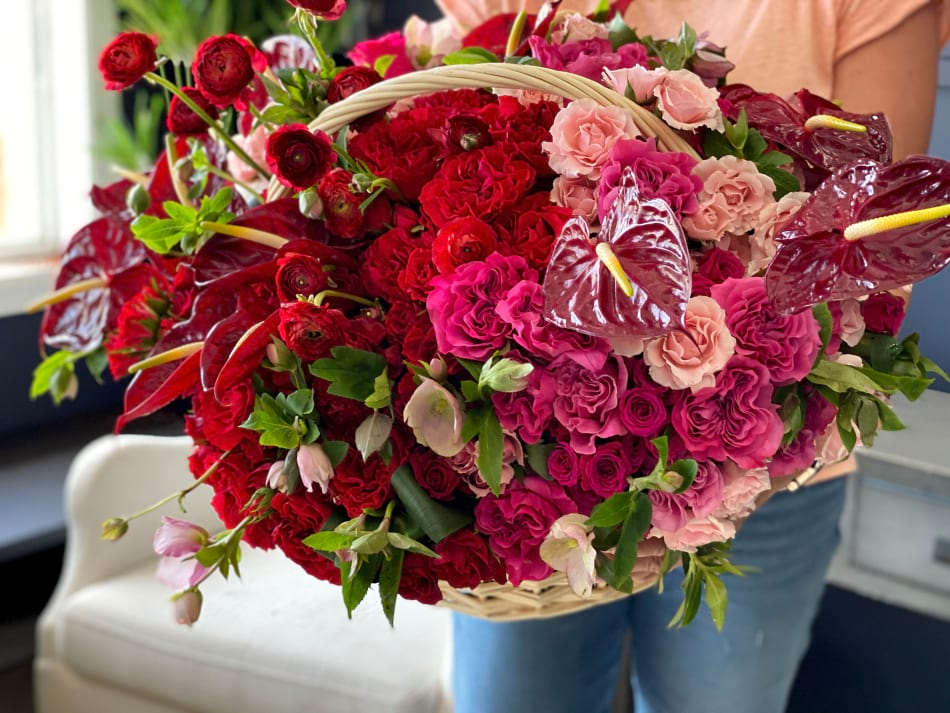 Perfection Mix |Extra Large Flower Basket |Flowers Miami