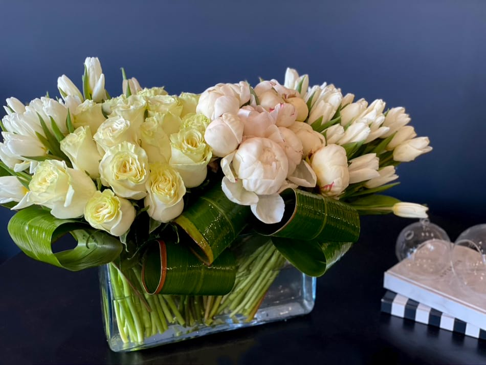Luxury Flower Design with Peonies, Roses and Tulips