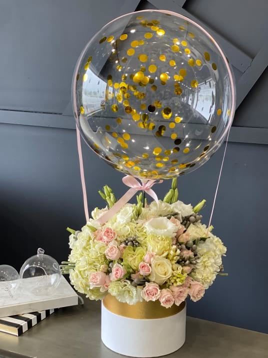Fly with Me | Unique Flower Design with Balloon