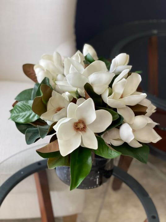 Real touch magnolia arrangement