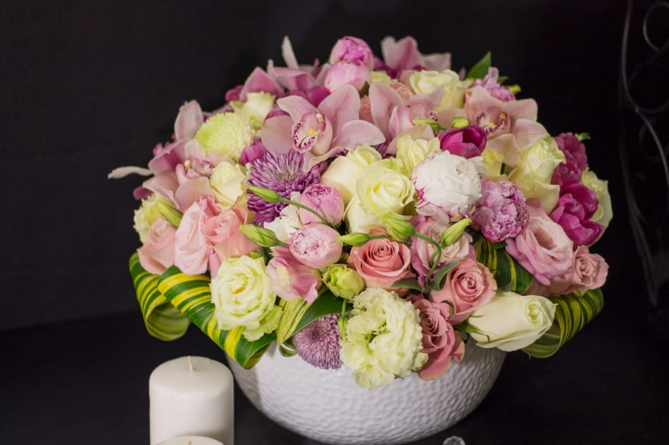 Large Flower Arrangement with Peonies and Mix Flowers
