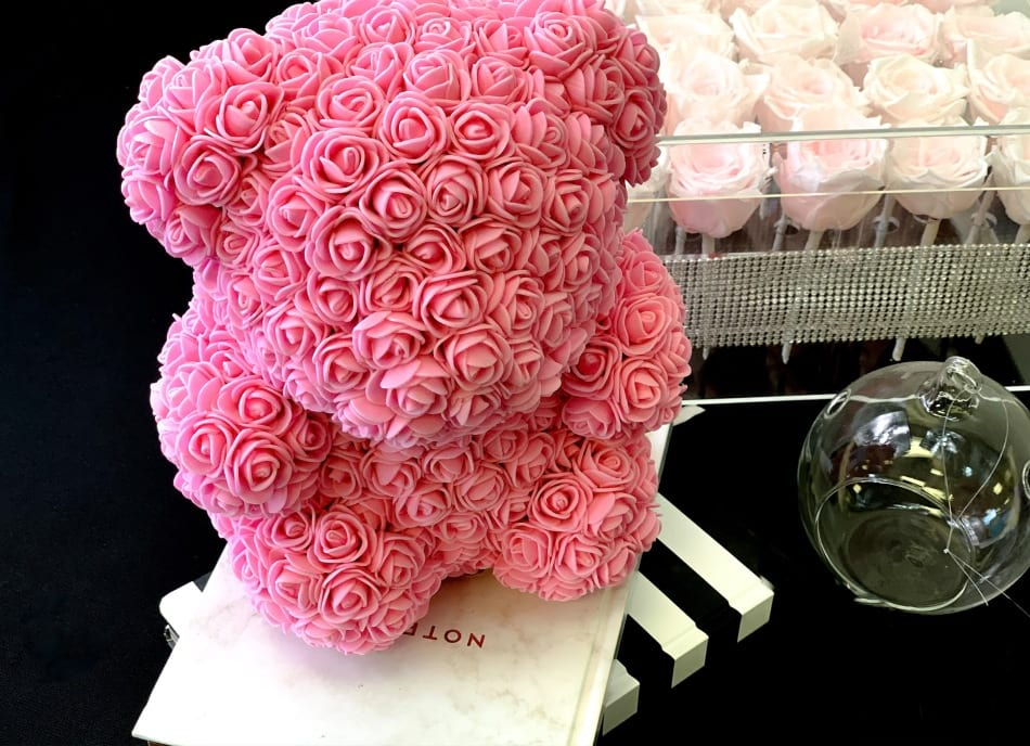 Luxury Rose Teddy Bear-Pink. Small
