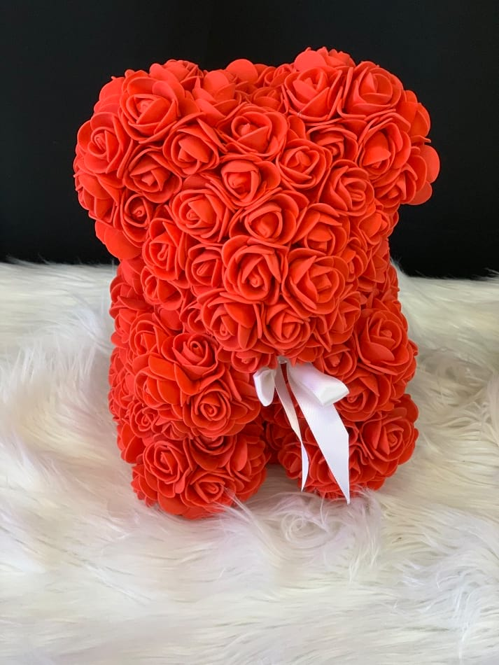 Rose Teddy Bear Red Small