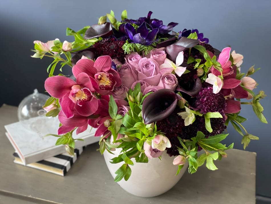 Stylish Flower Design in purple Colors