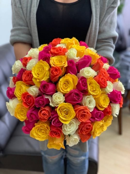 100 Mix color Roses