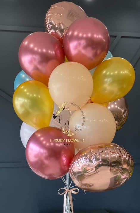 Balloons Bouquet in Pastel colors
