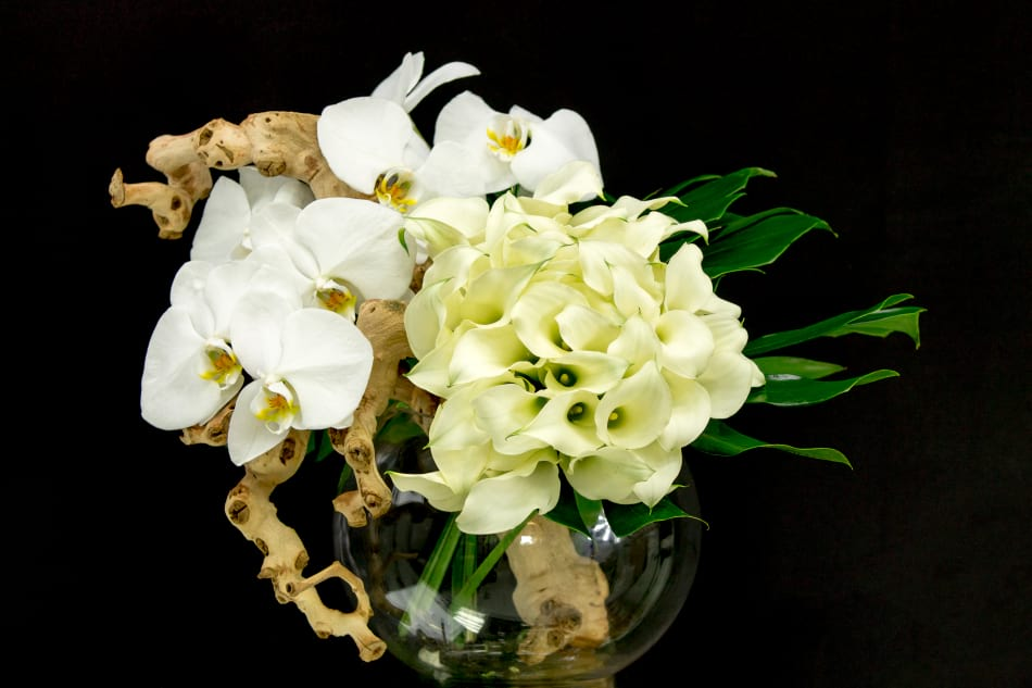 Luxury Flower Design with Orchids and Calla lilies
