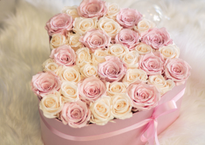 Heart Box with Luxury Forever Roses