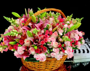 Mix Flower Basket